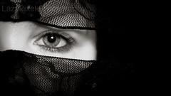 Stare (Lazy Pixel) Tags: iris portrait blackandwhite eye monochrome face eyelashes beth lace eyebrows pupil indecentangels