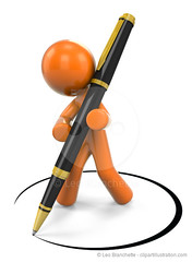 3D Orange Man Designing With Pen (clipartillustration) Tags: orange man illustration standing writing office 3d dancing render secretary supporting designing composing documenting orangeman completing affirming blackpen authorizing