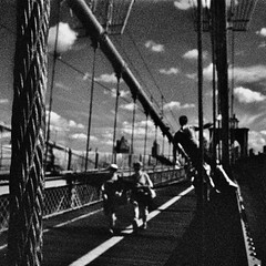 (bill bold II) Tags: blackandwhite newyork film brooklyn 35mm cropped analogue kodakeir olmpusom2n