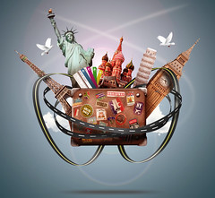 Travel (tigercop2k3) Tags: travel cruise sky newyork paris london st america bag europe peace tour moscow eiffeltower bigben tourist tip statueofliberty suitcase excursion vocation traveler towerofpisa asset russianfederation basilscathedral