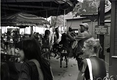 manège (DomiDine) Tags: leica blackandwhite paris film analog photography 50mm trix d76 streetphoto jardinduluxembourg leicam3 kodakd76 leicasummicron50mm