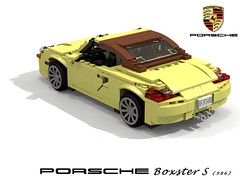 Porsche Boxster (986) (lego911) Tags: auto birthday car germany model lego render convertible spyder german porsche boxster 7th 42 challenge cad lugnuts roadster povray 986 84 moc ldd miniland midengine duetschland lego911 autosausdeutschland lugnutsturns7or49indogyears