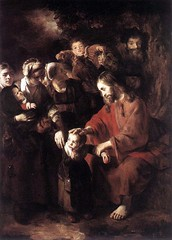 The Gospel of St. Luke 18 15-17 Jesus blesses children - Amgad Ellia 03 (Amgad Ellia) Tags: st children jesus luke 18 gospel amgad ellia the 1517 blesses