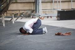 Muslim man prays 20140711 (M Hudson) Tags: people toronto canada horizontal israel peace praying protest can assault demonstration antiwar gaza musli palestinian on