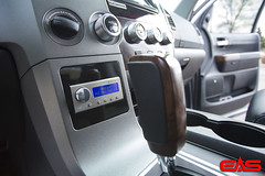 With the digital processor control unit installed in the dash, this customer has full control over the sound without requiring any change to the factory in-dash stereo receiver.