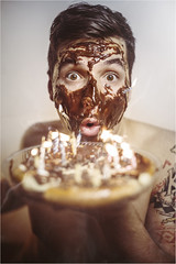 Birthday (Tomas.Kral) Tags: birthday man home cake canon studio 50mm eyes blowing celebration candel strobe candels cto speedlite strobist 5dmarkii yn560ii dedpxl09