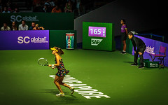 Radwanska Preparation (otarboy79) Tags: canon drive women singapore stadium indoor tennis slice service volley wta backhand kallang forehand 2470f28 5dmk3