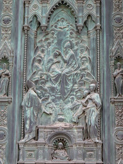 Entry Door panel close-up (Mikeinwayne...On and off...) Tags: church florence firenze duomo