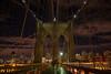 Suspended (dbushue) Tags: nyc newyorkcity bridge autumn sky newyork fall clouds october suspension cables walkway brooklynbridge eastriver boardwalk archway 2014 damniwishidtakenthat