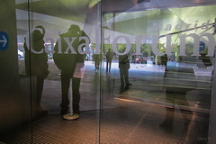 Ghostly Images (Jocey K) Tags: madrid building reflections words spain caixaforum archtiecture industrialarchitecture caixaforummuseummadrid