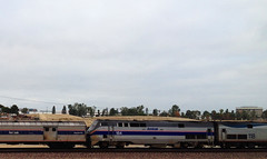 Amtrak 184 (hupspring) Tags: railroad heritage train diesel anniversary engine amtrak locomotive southerncalifornia orangecounty placentia phaseiv passengertrain southwestchief p42 baggagecar amtk amtk184 bnsfsanbernardinosub amtrak184
