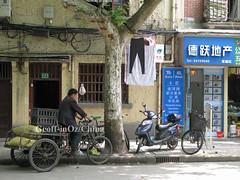 Streetscape, French Concession, Shanghai (geoff-inOz) Tags: china shanghai tricycle frenchconcession