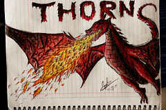 Thorn Fan Art (BRICKSmovies) Tags: red art dark fire fan fly war glow dragon age middle thorn saga rider inheritance murtagh eldest eragon paolini brisingr bricksmovies
