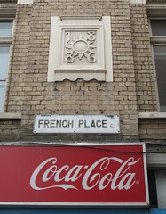 French Place E1 1886 and Coca-Cola. (maggie jones.) Tags: street sun london stone name hackney date e1