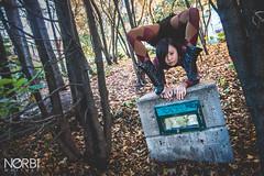 Arisa Meguro (JugglerNorbi) Tags: autumn girl japanese artist hand circus strong balance handstand contortion flexible