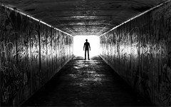 Tunnel Man (rexboggs5) Tags: blackandwhite bw man australia tunnel queensland rockhampton agcgwinner thepinnaclehof tphofweek280 compsfcgtpag0515