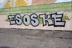 ESOSOKE (damonabnormal) Tags: street city philadelphia graffiti october tag tags tagged philly graff aerosol phl urbanphotography 2014 urbanite streetwriter philadelphiagraffiti wallbombing phillygraff esoske