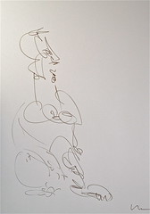 dominant woman (LOU WOLF) Tags: woman art drawing calligraphy seated