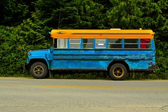 School bus (timnutt) Tags: canada colour bus contrast rural paint bright britishcolumbia