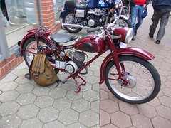 Adler M100 1954 (Zappadong) Tags: auto classic car bike automobile adler 1954 scooter voiture motorbike coche classics moto roller oldtimer oldie carshow m100 motorroller motorrad 2014 winsen youngtimer automobil oldtimertreffen zappadong