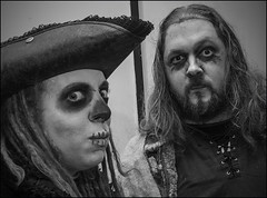 The Office Halloween Party (zolaczakl) Tags: people blackandwhite halloween bristol mono october makeup workplace fancydress halloweenparty 2014 ghouls nikond90 officehalloweenparty photographybyjeremyfennell bristolinmonochrome