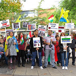 Kurdish people protest against the Turkiish government at Hay Hill, Norwich thumbnail