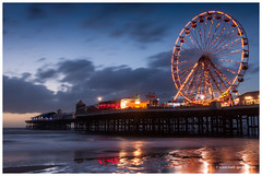 Blackpool Central Pier (MDG534621) Tags: uk longexposure greatbritain sunset sea england seascape west beach wheel pier seaside north central ferris blackpool 2470 d90