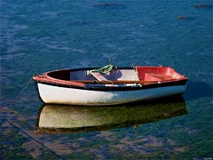 Barca auxiliar (Luicabe) Tags: luiscabellobarcaauxiliaraguacalmamarreflejozamorayarat1luicabeenazamoradoolympuse420