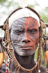 Warrior, Mursi Tribe, Ethiopia (Rod Waddington) Tags: africa portrait traditional tribal valley warrior mayo ethiopia tribe mursi ethiopian omo