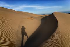 Sand Dune Shadow Self Portrait (F1etch) Tags: