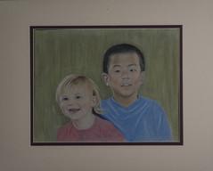 Pastel Portrait Painting of Young Children (Bill Gracey) Tags: portrait children artist maria hannah jonah pastelpainting