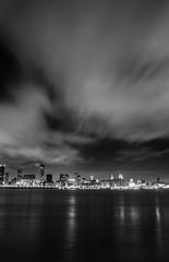Liverpool Waterfront (Ady Negrean) Tags: city uk england blackandwhite black west night liverpool cityscape waterfront unitedkingdom north mersey merseyside