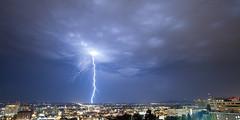 Strike (Cody Schroeder) Tags: city storm weather night clouds canon washington spokane cityscape strike lightning 5dmarkii