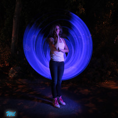 """Kitou (""""wil"""") Tags: light portrait lightpainting wil neon led cathode toulouselightpainting wil4416 soiréemonta2014 lightpaintingtoulouse"""