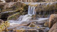 P1020888C16by9 (rrunnertexas) Tags: longexposure fall water lumix waterfall stream texas panasonic g5 20mm primelens
