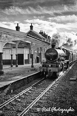 The-Hadrian-1 (Dreaming of Steam) Tags: jubilee railway steam locomotive stainer lms mainline steamengines hellifield 45699 jubileeclass 5699 thehadrian railwayphotos steamrailwaysuk railwayphotographssteam steamenginepictures steamrailwayphotographs steamrailwaypictures steamtrainrailways 11102014