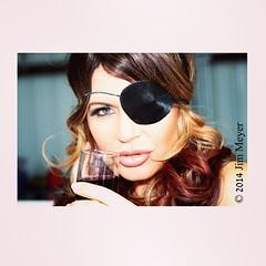 #BeautifulModel #brunette #EyePatch #glassOfWine #Lips #LipStick #OneEye #longHair #Happy (James E. Meyer) Tags: square squareformat unknown iphoneography instagramapp uploaded:by=instagram