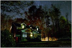 Cabin, Night (macwagen) Tags: longexposure autumn house fall bulb night stars cabin pennsylvania pa westover