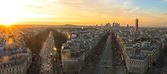 Paris (lesphotosduseb) Tags: sunset sun paris soleil arc triomphe defense champ tourisme