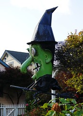 Halloween Greetings from the Sebastopol Witch (charlottes flowers) Tags: halloween witch recycle junksculpture
