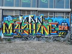Machine-CFH (gehaktfles) Tags: graffiti paint machine eindhoven graff piece area51 cfh