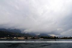 Lake Garda - Italy (Naomi Rahim (thanks for 3 million visits)) Tags: city travel italy cloud lake water fog town nikon garda europa europe italia moody tour verona lakegarda lagodigarda topdeck veneto northernitaly travelphotography lagobenaco nikond7000 naomirahim