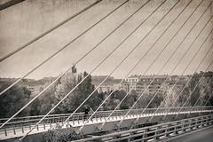 RLHG 16 Tirantes (Ricardo Lanas photography) Tags: textura iso100 bn f63 2014 puentecolgante ruido 1250s tirantes 35mms sigma1835f18 ricardolanasphotography rlhg ricardolanasphotography