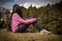 Traveller (Sougata2013) Tags: people woman india mountain nature girl lady fun nikon hill tourist traveller enjoy himalaya kullu himachalpradesh nikond3200 jaloripass serulsarlake