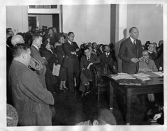 Houston Challenges Board over Marion Anderson: 1939 (washington_area_spark) Tags: school black history hall washington high concert memorial d african board c dar hamilton central protest houston meeting jim charles marion demonstration anderson civil american rights lincoln crow constitution 1939 integration picket segregation