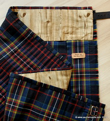 MacLately tartan to the red line