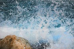 wave (mishelgurzaiev) Tags: blue sea beach nature water rock drops wave