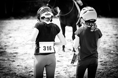 Horse Show (JustJamieLeigh) Tags: horse horses horseshow canon60d canon 60d competition equestrian english englishriding equines equine blackandwhite monochrome children child kid kids girl girls