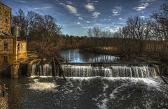 Dam at Weisenberger Mill in Midway Ky. (Klaus Ficker --Landscape and Nature Photographer--) Tags: mill dam southelkhorncreek scottcounty weisenbergermill midway kentucky kentuckyphotography klausficker usa vintage milf canon eos5dmarkiv