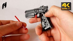 How to Build the Lego Technic Gun (MOC - 4K) (hajdekr) Tags: lego technic starwars wars gun moc myowncreation automatic toy kids children easy simple springshooter1x4 6048898 creation weapon small howto manual tuto tutorial tip tips stepbystep assemblyinstruction instruction guide buildingblocks buildingguide help how